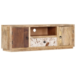 TV Cabinet 120x30x40 cm Solid Mango Wood | Furniture Supplies UK