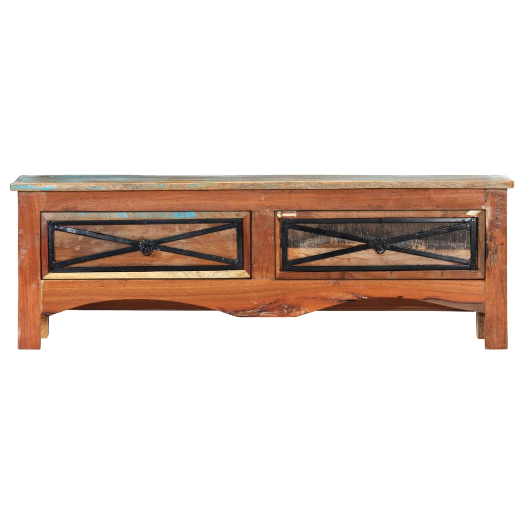 TV Cabinet 120x30x40 cm Solid Reclaimed Wood |  | Multicolour