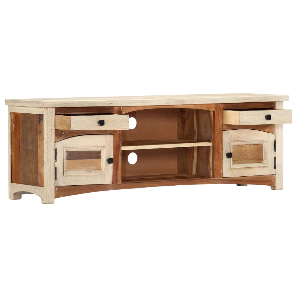 TV Cabinet 120x30x40 cm Solid Reclaimed Wood