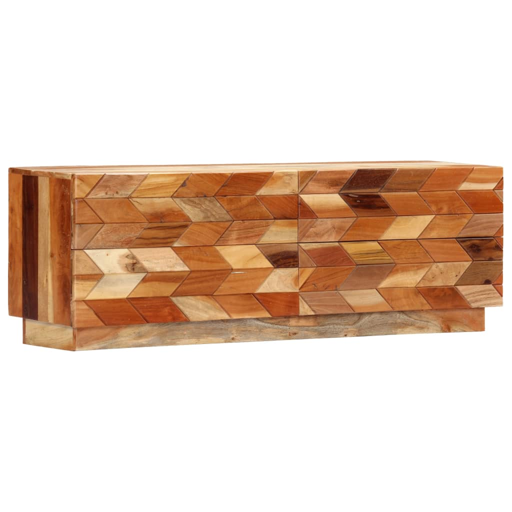 TV Cabinet 120x30x40 cm Solid Reclaimed Wood | Furniture Supplies UK