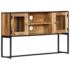 TV Cabinet 120x30x75 cm Solid Reclaimed Wood | Furniture Supplies UK
