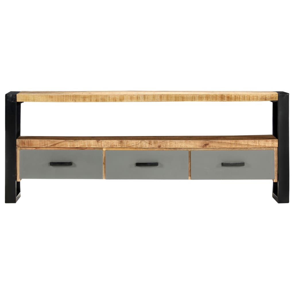 TV Cabinet 130x30x50 cm Solid Mango Wood |  |