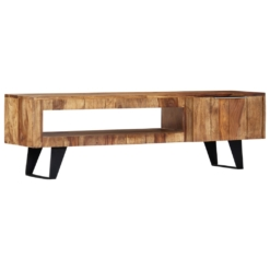TV Cabinet 140x30x40 cm Solid Sheesham Wood | Furniture Supplies UK