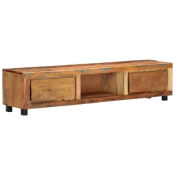 TV Cabinet 150x30x33 cm Solid Reclaimed Wood | Furniture Supplies UK