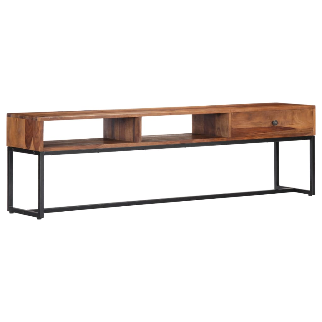TV Cabinet 160x30x45 cm Solid Sheesham Wood | Furniture Supplies UK