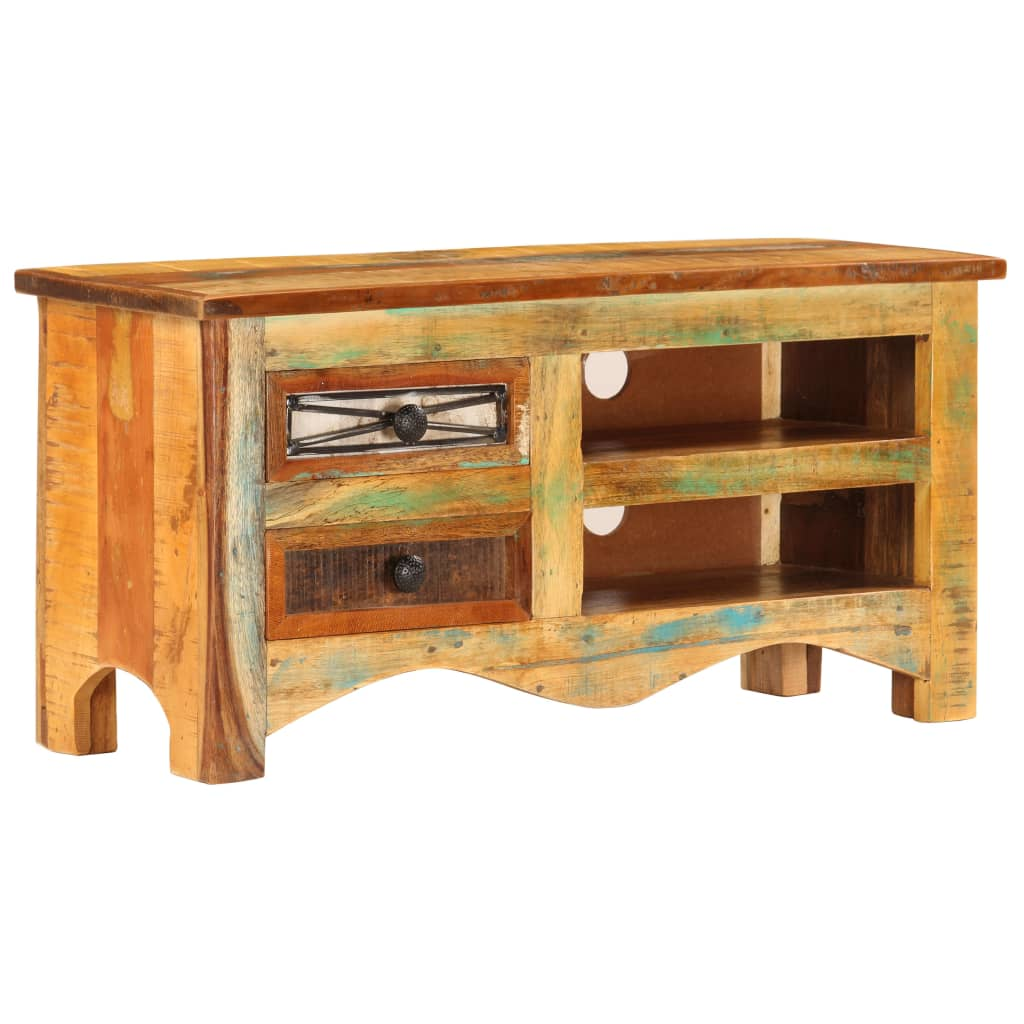TV Cabinet 80x30x40 cm Solid Reclaimed Wood | Furniture Supplies UK