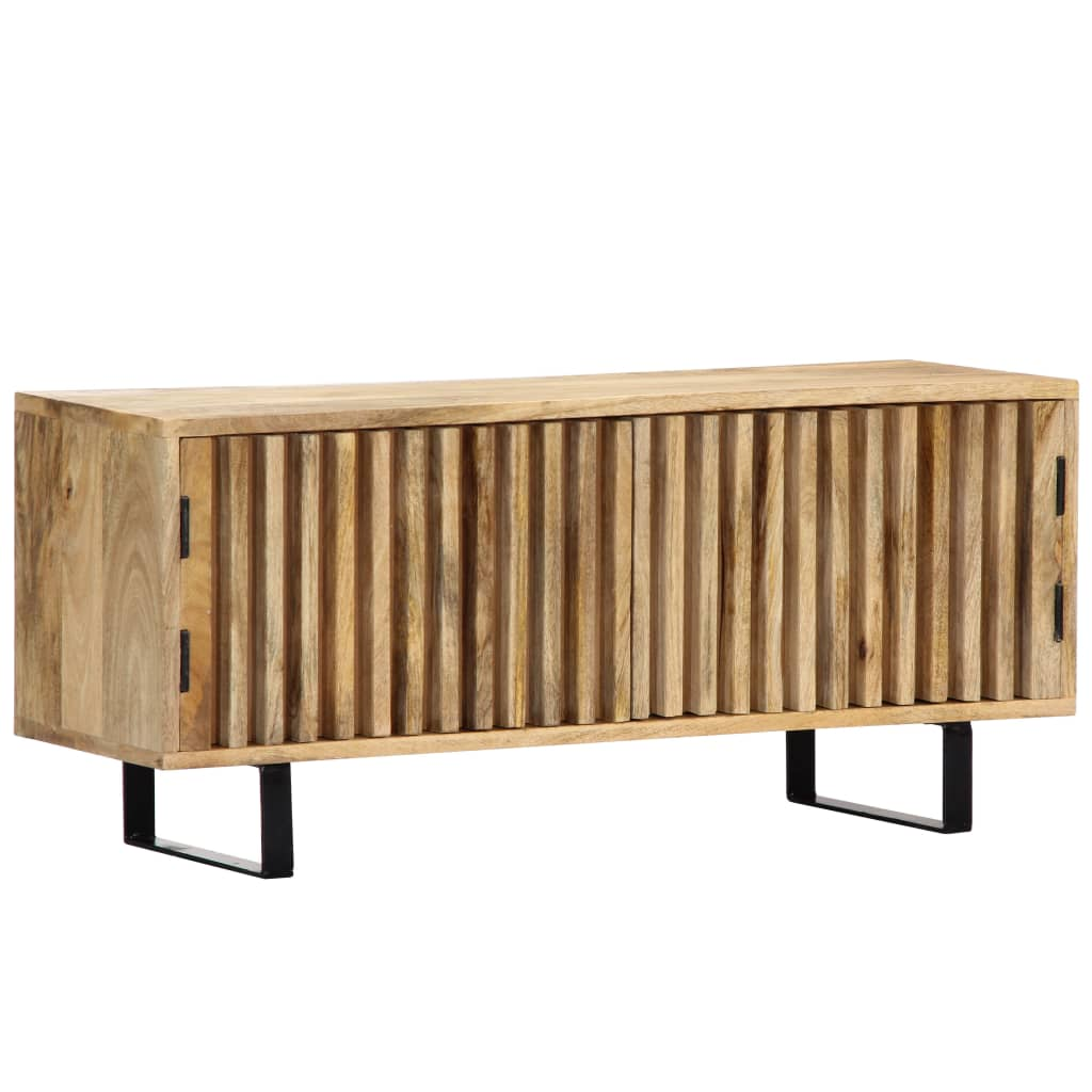 TV Cabinet 90x30x40 cm Solid Mango Wood | Furniture Supplies UK