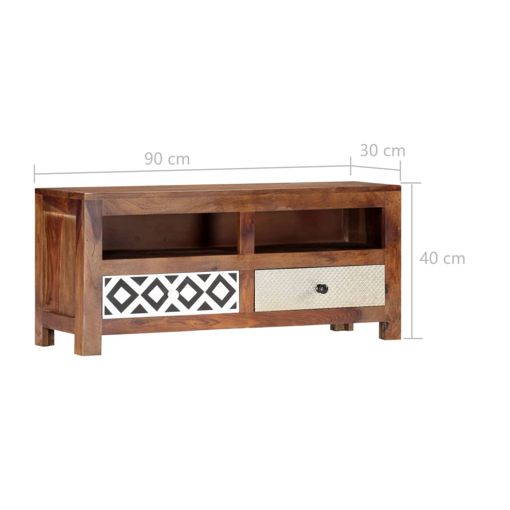 TV Cabinet 90x30x40 cm Solid Sheesham Wood