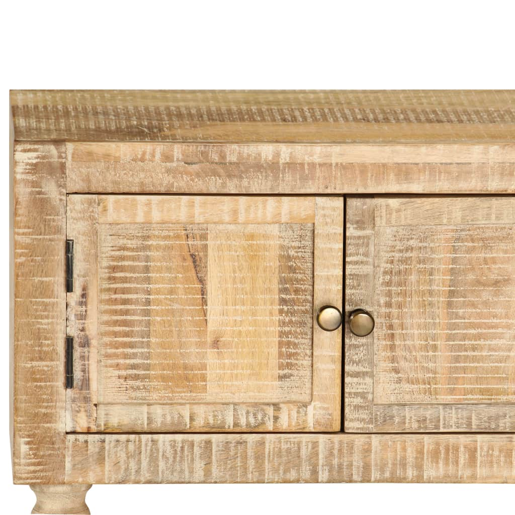 TV Cabinet Rough Mango Wood 118x30x40 cm
