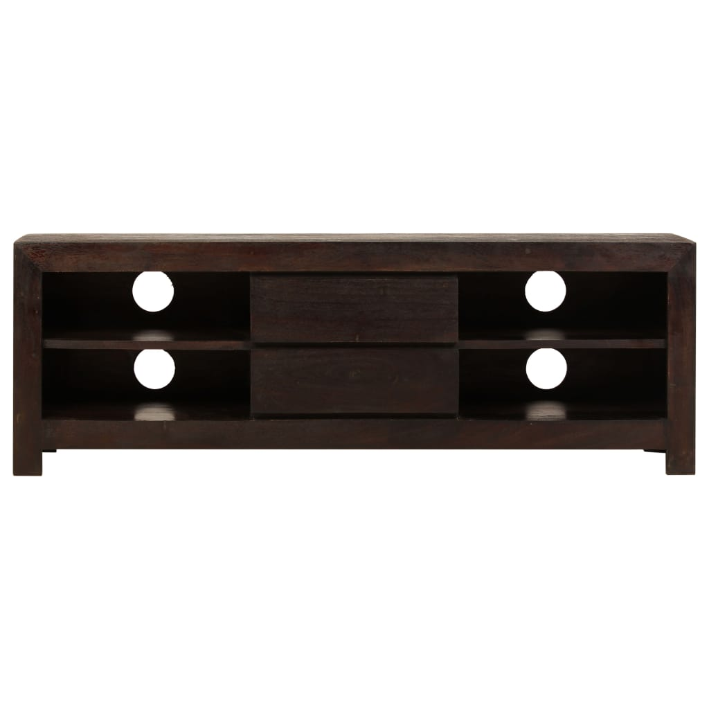 TV Cabinet Solid Acacia Wood 120x30x40 cm Dark Brown |  | Brown