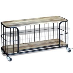 TV Cabinet Solid Mango Wood 100x40x45 cm | Furniture Supplies UK