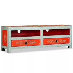 TV Cabinet Solid Mango Wood Hand Painted | Furniture Supplies UK