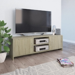 TV Cabinet Sonoma Oak 120x30x37.5 cm Chipboard | Furniture Supplies UK