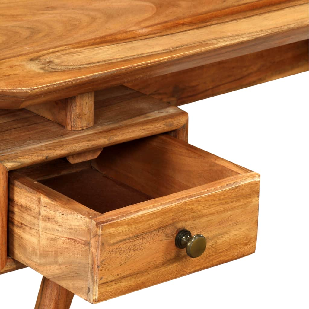 TV Stand Solid Acacia Wood 115x35x46 cm