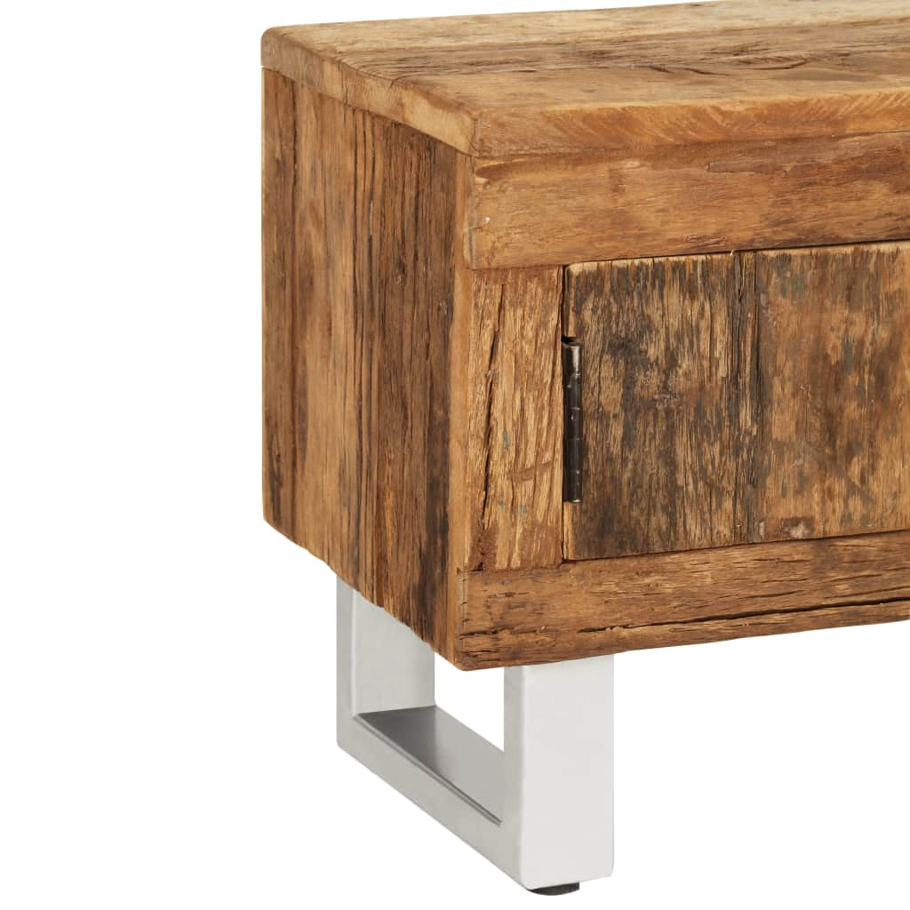 TV Stand Solid Reclaimed Sleeper Wood 140x30x40 cm