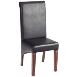 Toko Dakota Dark Leather Dining Chair x1 | Furniture Supplies UK