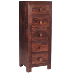 Toko Dakota Dark Mango 5 Drawer Chest | Furniture Supplies UK