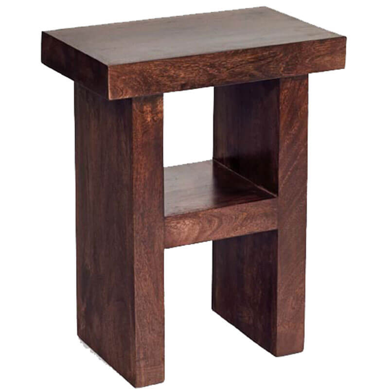 Toko Dakota Dark Mango H Shaped Table/Stool | Furniture Supplies UK