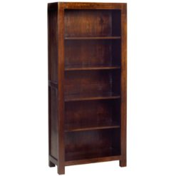 Toko Dakota Dark Mango Large Open Bookcase | Furniture Supplies UK
