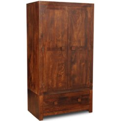 Toko Dakota Dark Mango Large Wardrobe | Furniture Supplies UK