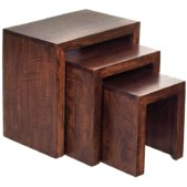 Toko Dakota Dark Mango Nest Of 3 Tables   Furniture Supplies UK