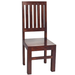 Toko Dakota Dark Mango Slat Back Chair x1 | Furniture Supplies UK