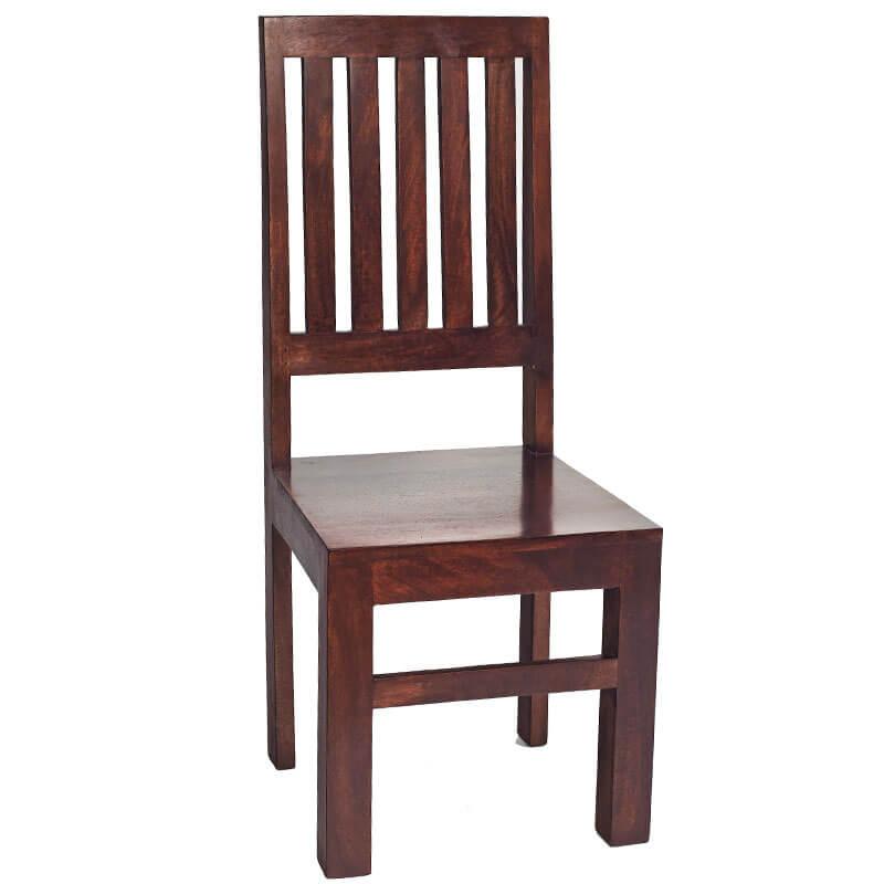 Toko Dakota Dark Mango Slat Back Chair x1 | Furniture Supplies UK