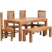 Toko Dakota Light Mango Large Dining Table   Solid Wood  
