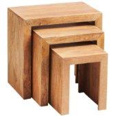 Toko Dakota Light Mango Nest Of 3 Tables   Furniture Supplies UK