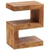 Toko Dakota Light Mango S Shaped Display Unit | Solid Wood |