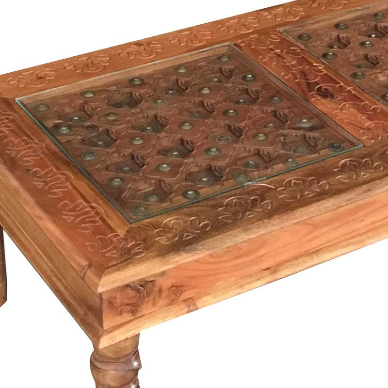 Traditional Acacia Coffee Table 110*60 | Rosewood |