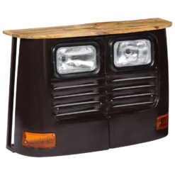 Truck Sideboard Solid Mango Wood Dark Grey | Furniture Supplies UK