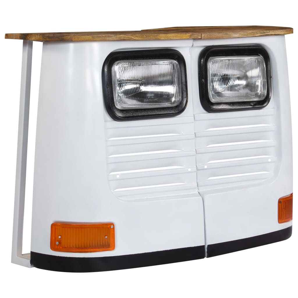 Truck Sideboard Solid Mango Wood White |  | White