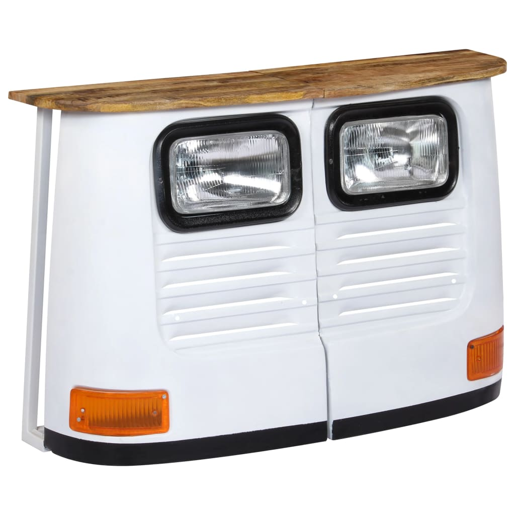 Truck Sideboard Solid Mango Wood White | Furniture Supplies UK