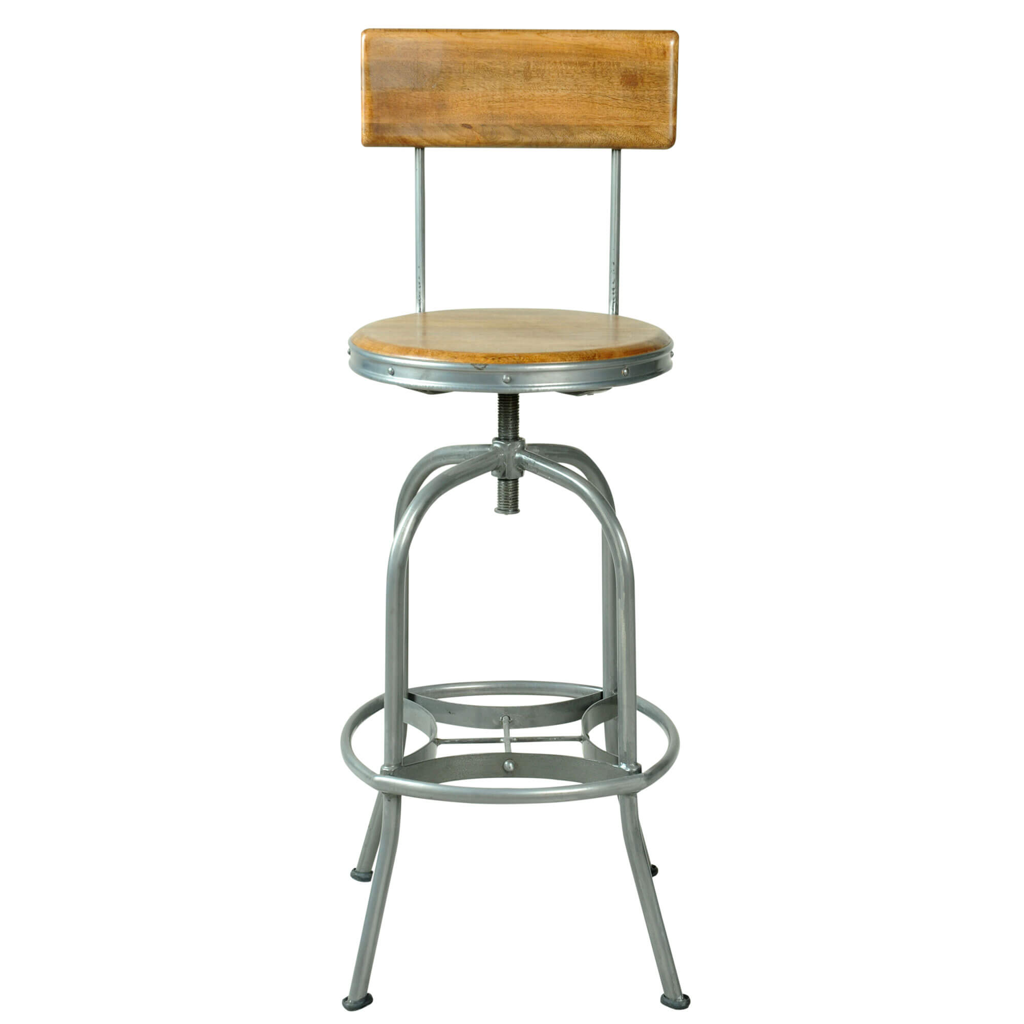 Urban Bar Stool with Back Rest | Solid Wood |