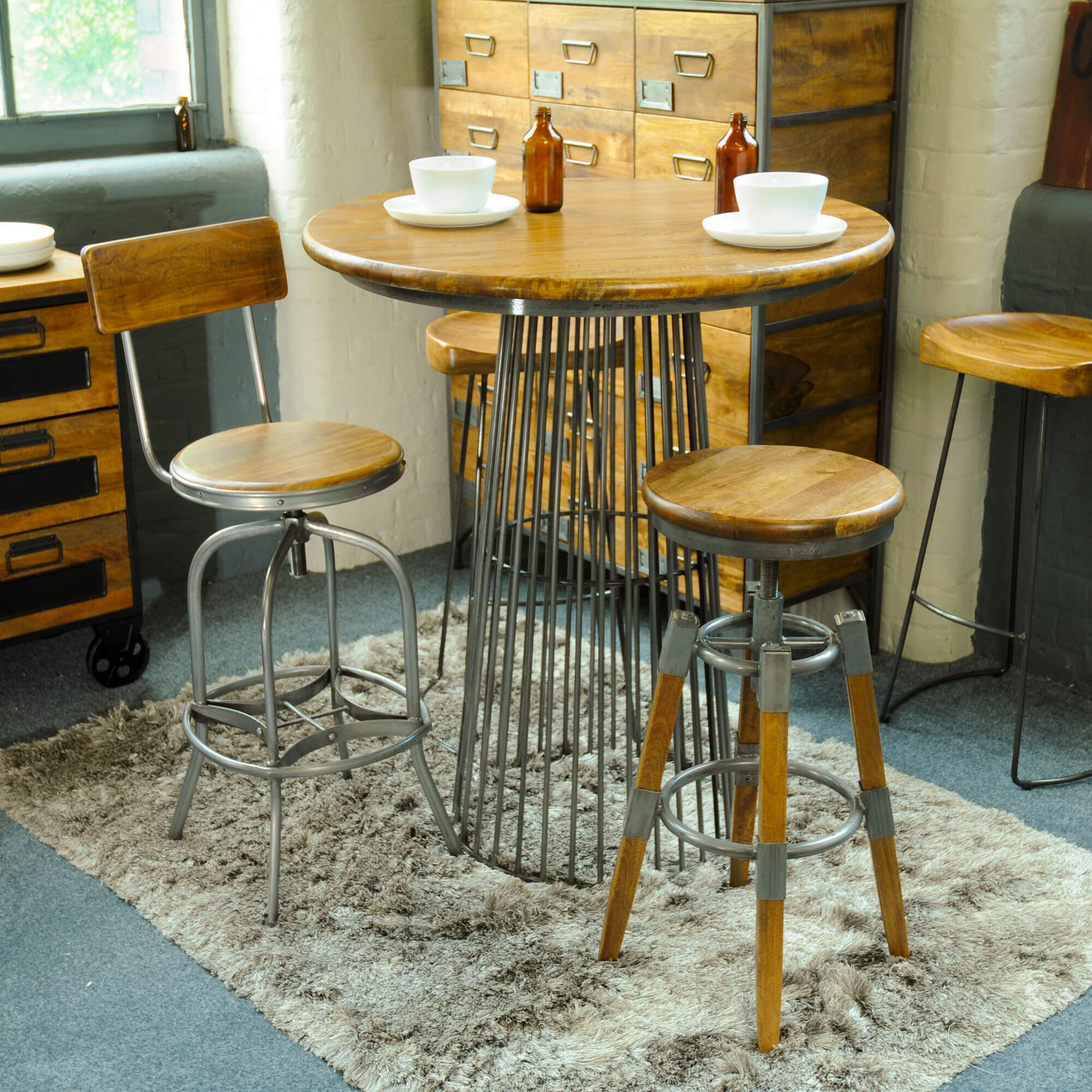 Urban Bar Stool with Back Rest