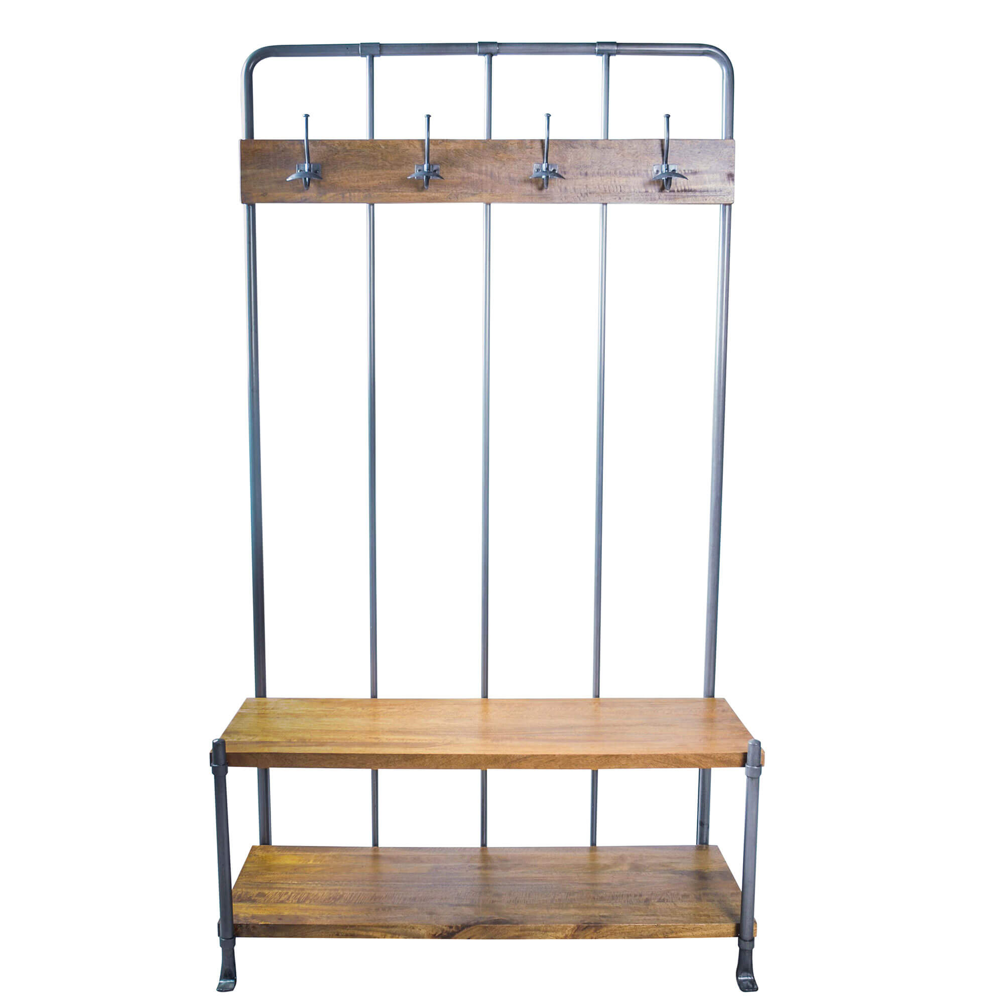 Urban Hall Bench / Coat rack | Solid Wood |