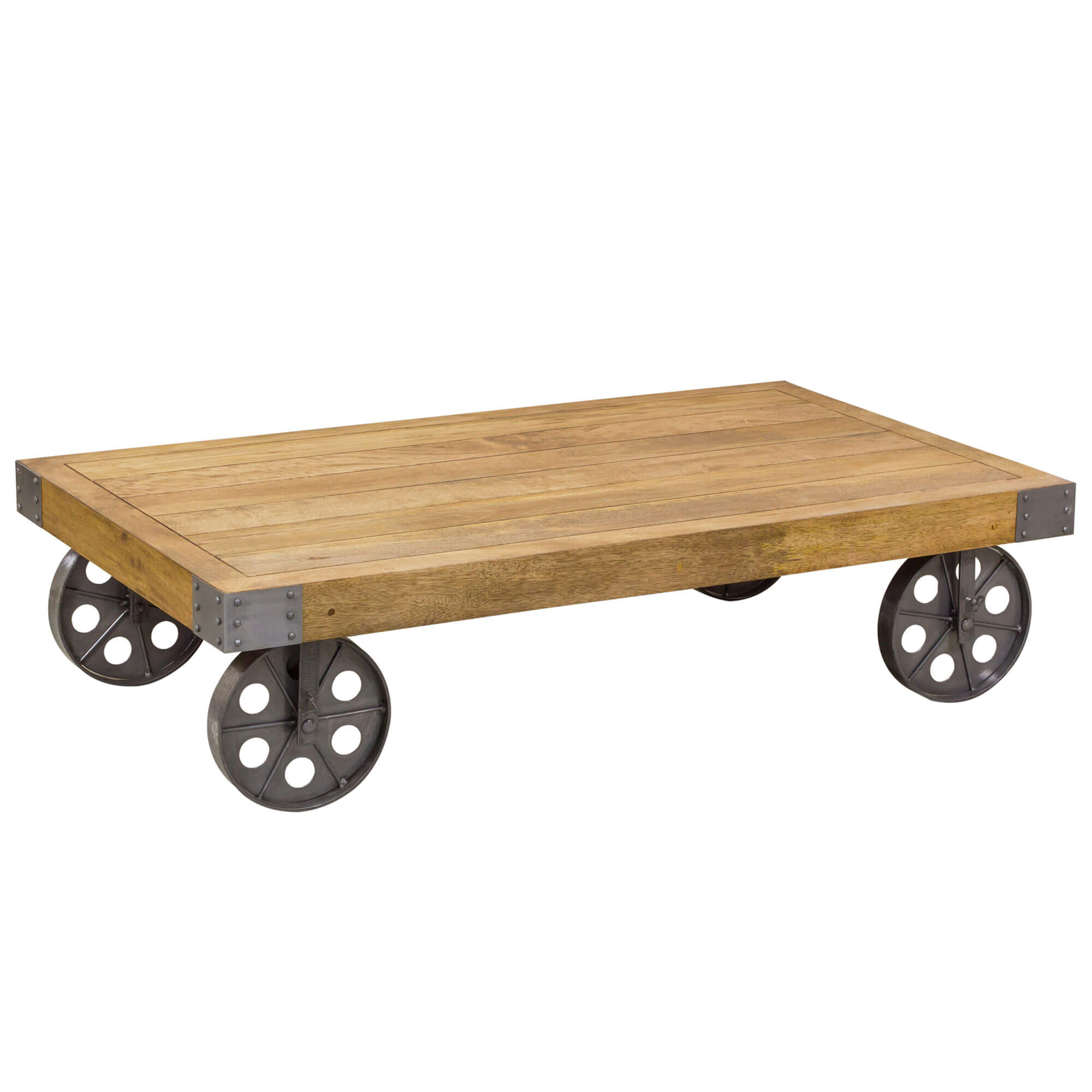 Urban Industrial Coffee table with Wheels | Furniture Supplies UK