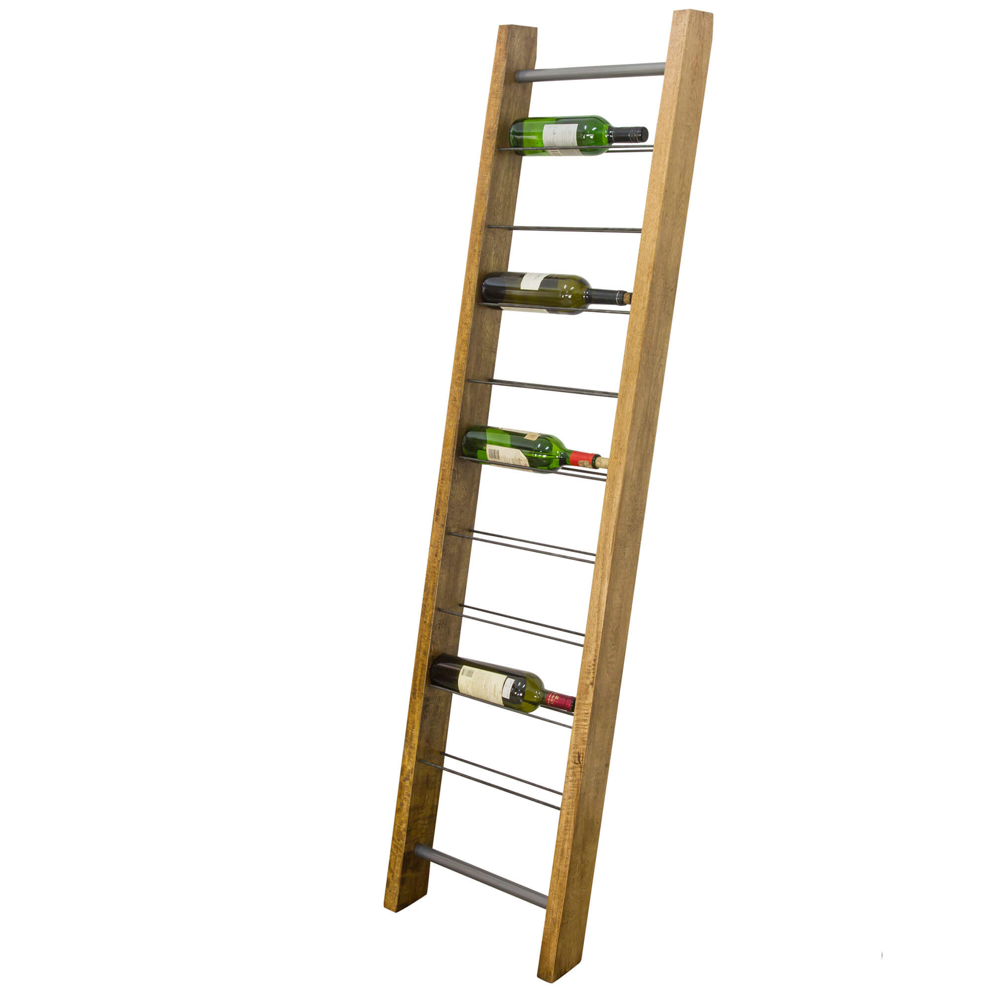 Urban Leaning 9 bottle Wine Rack | Solid Wood |