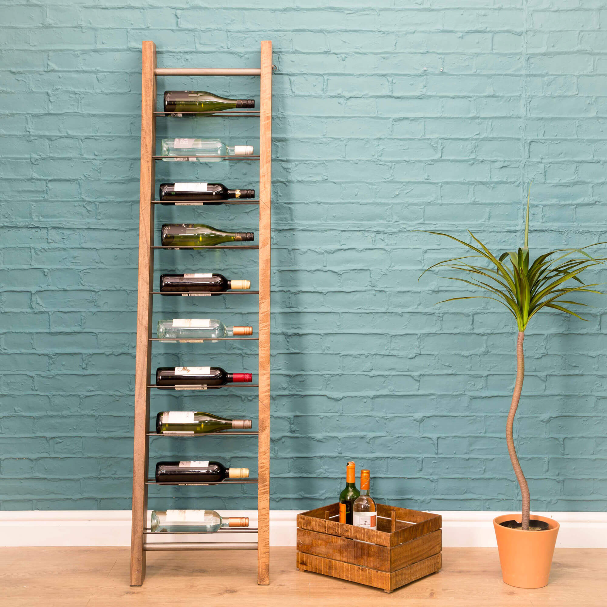 Urban Leaning 9 bottle Wine Rack | Furniture Supplies UK