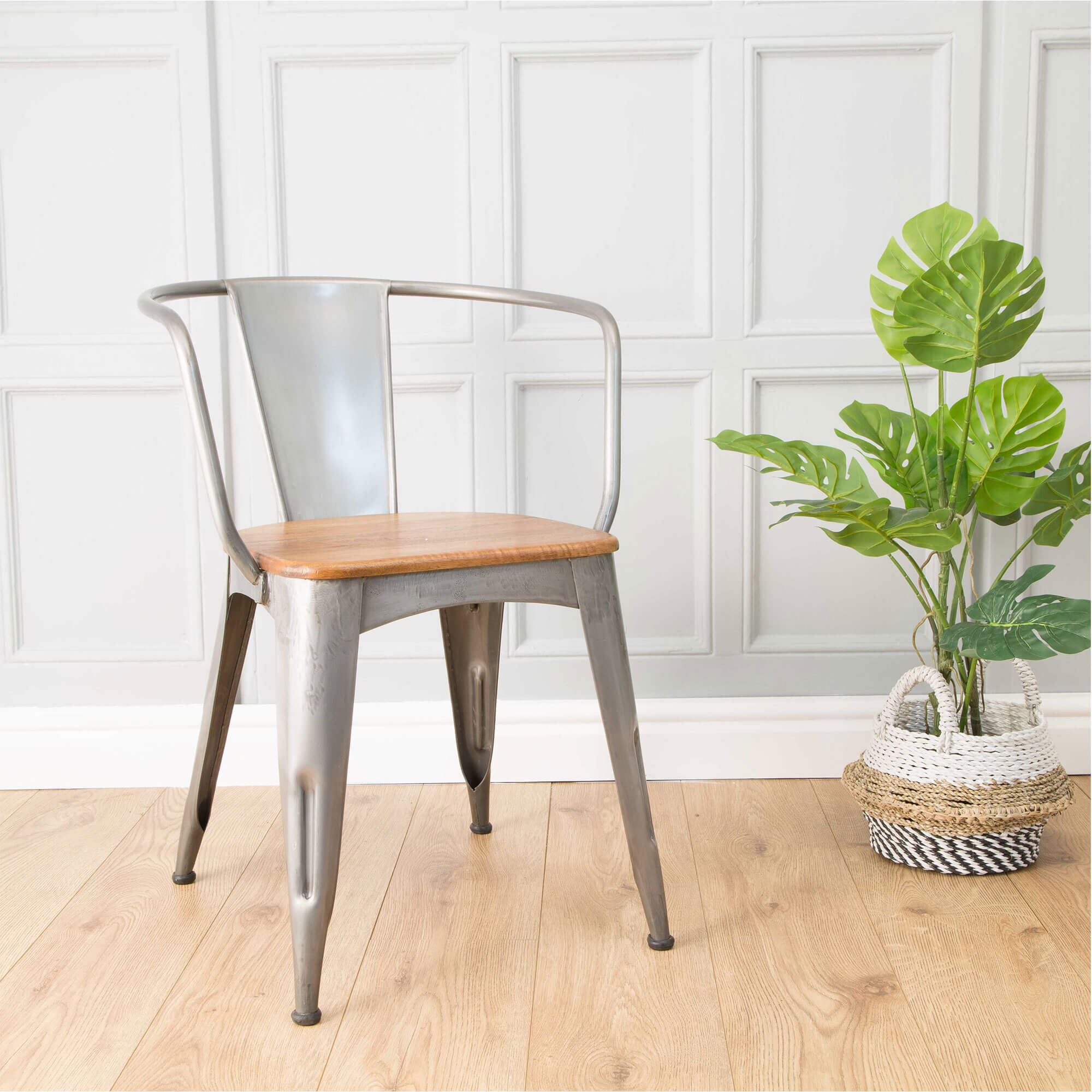 Urban Square Cafe Table x2 Chairs (60x60) | Solid Wood |