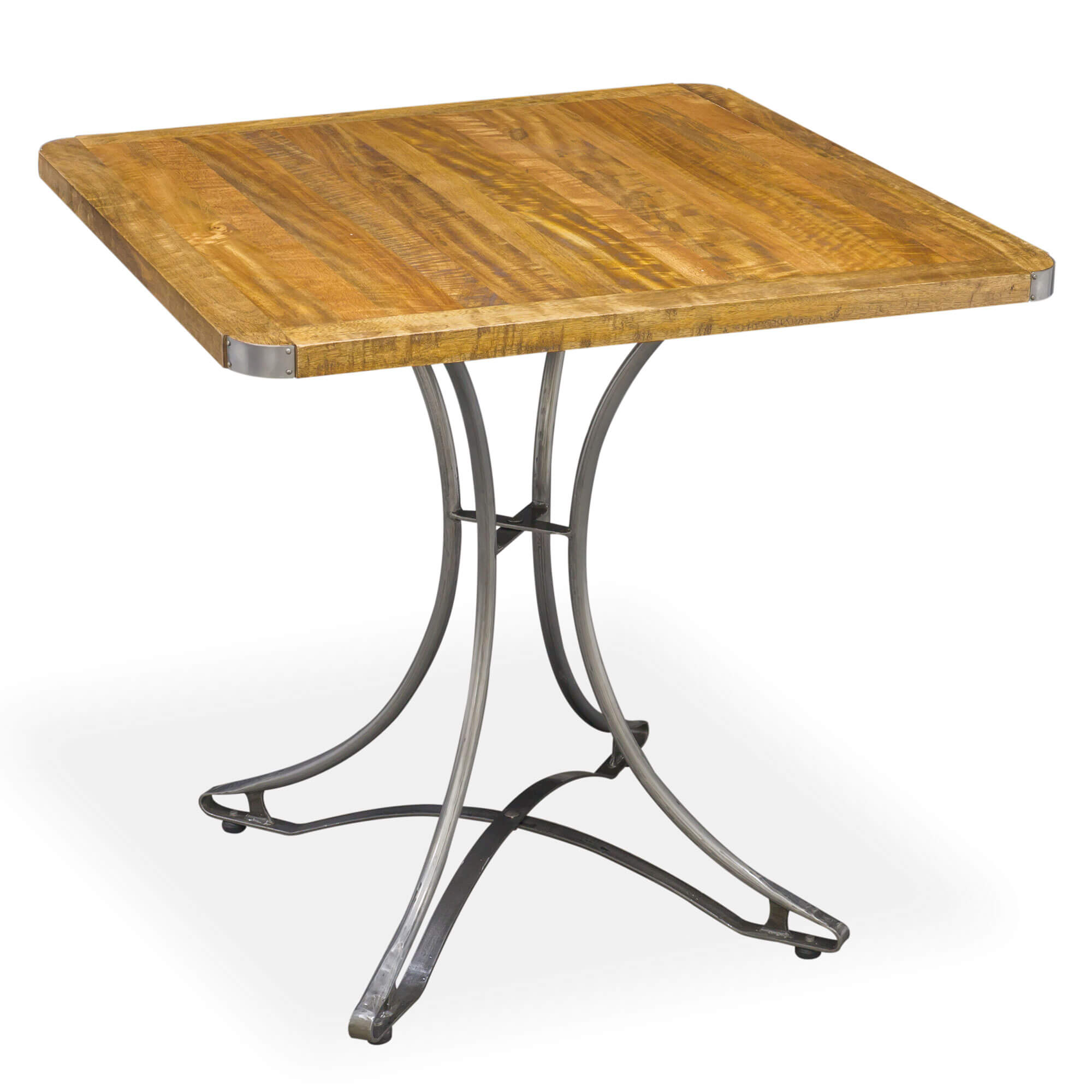 Urban Square Cafe Table x2 Chairs (80x80) | Solid Wood |
