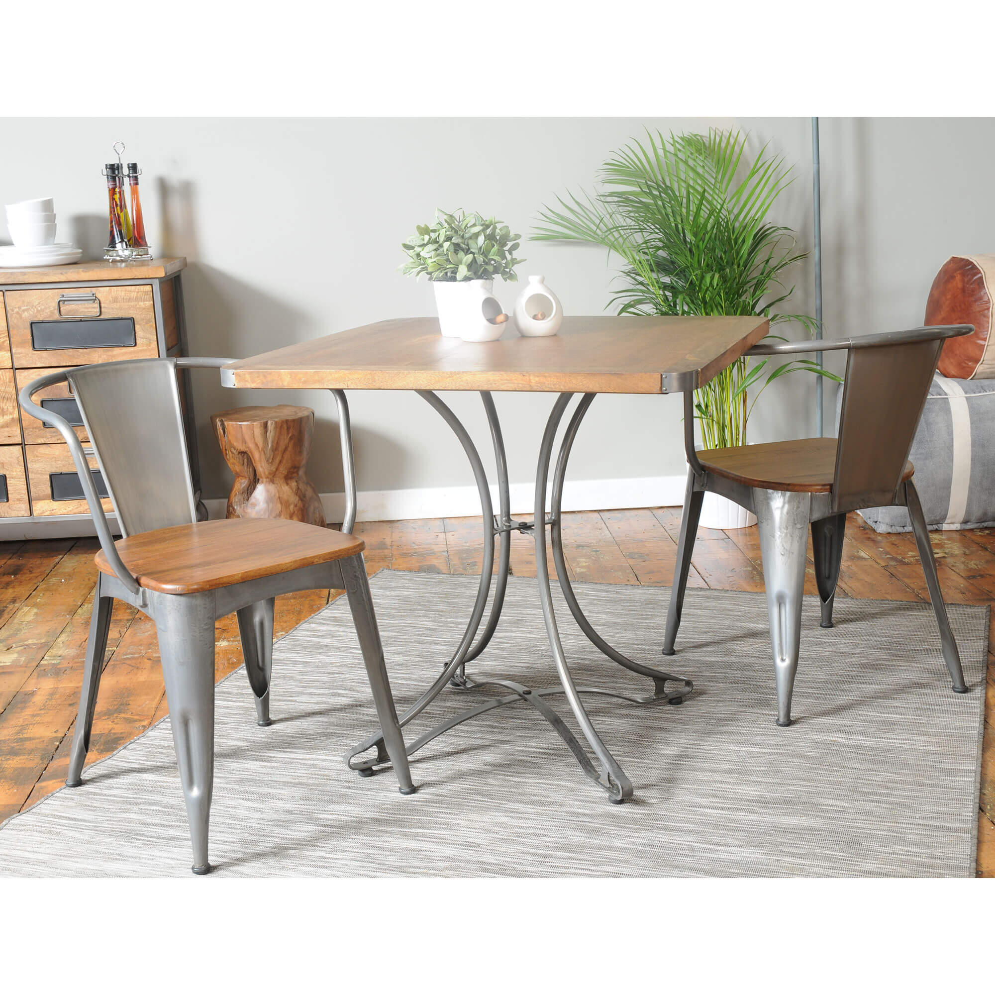 Urban Square Cafe Table x4 Chairs (80x80) | Furniture Supplies UK
