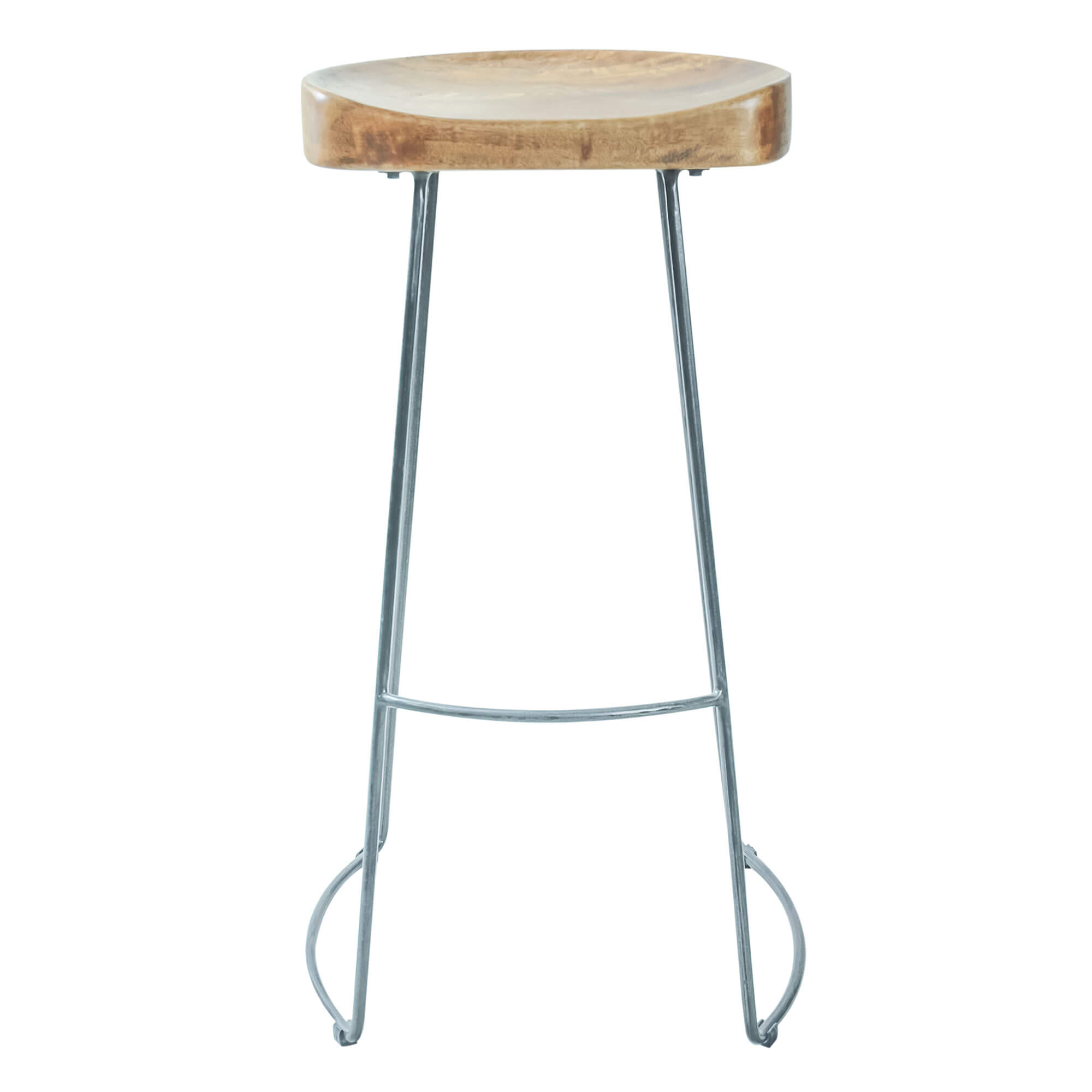 Urban Tractor Seat Stool 75cm (Set of 2) | Solid Wood |