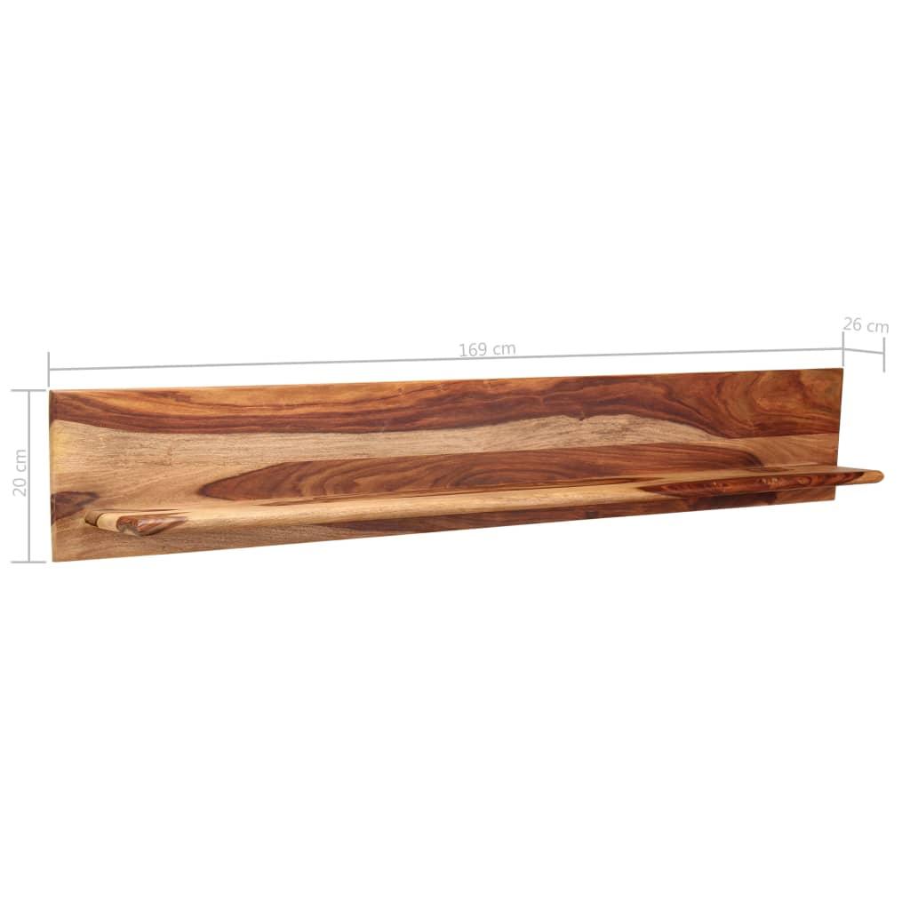 Wall Shelves 2 pcs 169x26x20 cm Solid Sheesham Wood      Brown