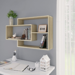 Wall Shelves Sonoma Oak 104x24x60 cm Chipboard | Furniture Supplies UK