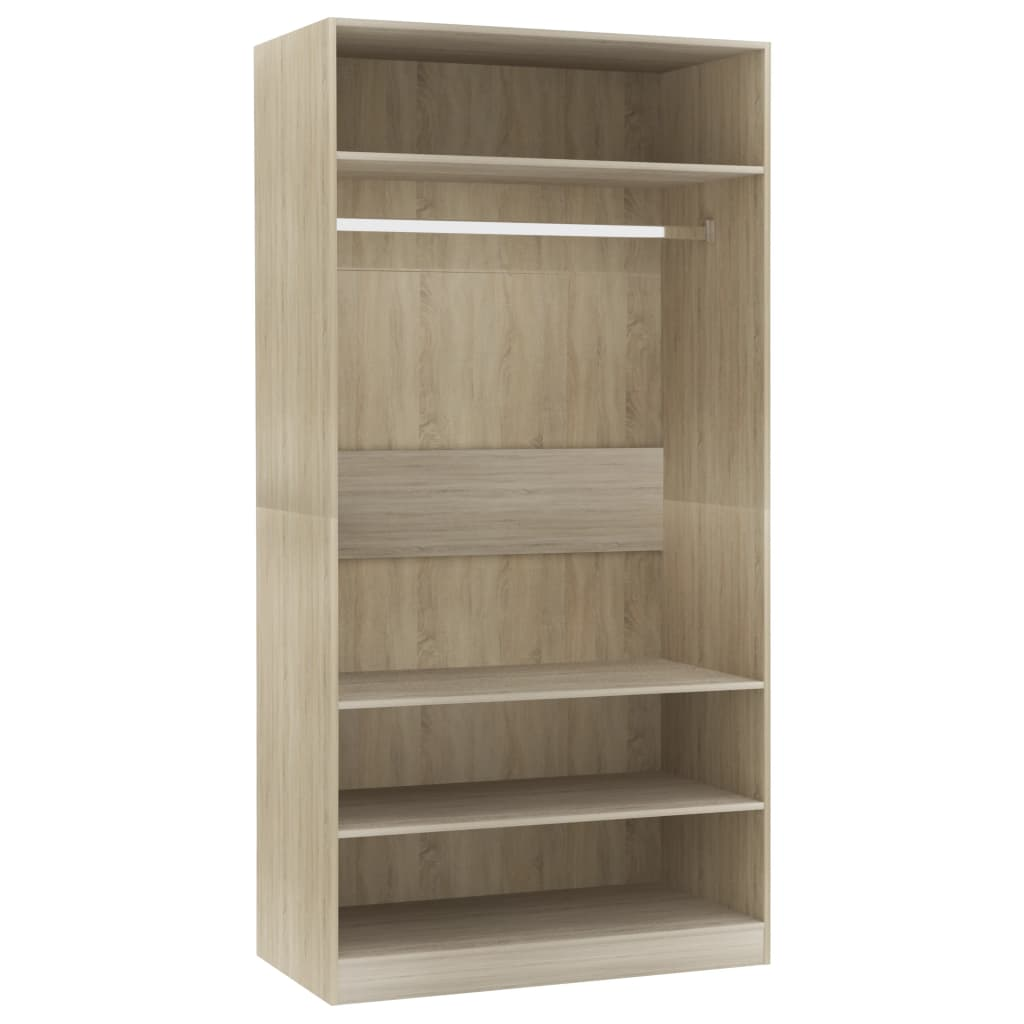 Wardrobe Sonoma Oak 100x50x200 cm Chipboard |  | Brown