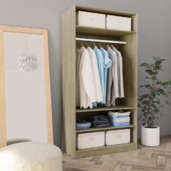 Wardrobe Sonoma Oak 100x50x200 cm Chipboard | Furniture Supplies UK