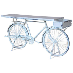 Wow Upcycled Retro Bicycle White Wash | Furniture Supplies UK