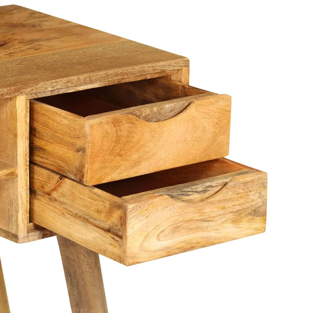 Writing Desk Solid Mango Wood 115x47x76 cm